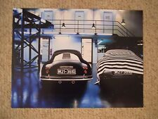 1951 Porsche Type 356/2 Coupe Showroom Advertising Poster RARE Awesome L@@K