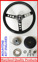 "1970-1978 Mustang Cobra II Black Steering Wheel 14 1/2"" Cobra Snake Center"