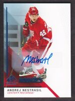 2014-15 SP Game Used Autograph Blue #176 Andrej Nestrasil Auto Detroit Red Wings