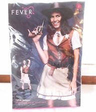 New Fever Sheriff Women's Halloween Costume Sz Small 6 - 8