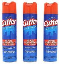 3 Cutter Mosquito Repellent Spray Repel Insect Bug Pest Camping Deet 11 oz