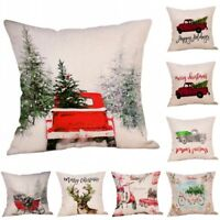 Merry Christmas Xmas Gift Throw Pillow Case Cover Cushion Sofa Car Home Decor