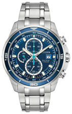 Citizen CA0349-51L Men's Eco-Drive Brycen Titanium Blue Dial Chronograph Watch