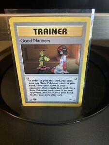Good Manners 111/132 (1st Edition) Trainer - Gym Heroes - Pokemon TCG 2000 WOTC