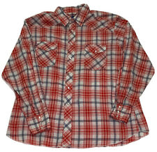 New listing Vintage Wrangler Button Up Shirt Snap Buttons Plaid Thin Red White Blue