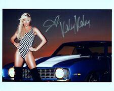KELLY KELLY Autograph Signed 8x10 Photo #162 BARBIE BLANK WWE DIVA WAGS MAXIM