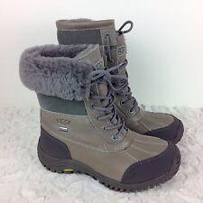 UGG Australia Women's Adirondack II Boots Grey Size 6.5 Waterproof Lace Up