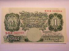 One Pound Note 1st Issue Green Britannia Unthreaded B239 Unc