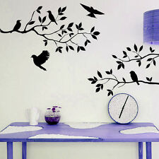 Black Birds Tree Branch Handcraft Wall Sticker Decal Mural For Home Decoration
