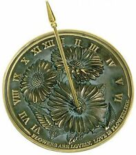 Rome Rome Flowers Sundial -Solid Brass with Verdigris Highlights