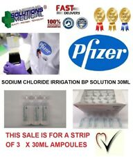 PFIZER SODIUM CHLORIDE IRRIGATION  BP STERITUBE 30ml (x3) PFIZER