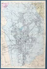 LONDON Index map Roads BACON 1959 old vintage plan chart