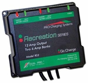 Dual Pro Recreational Series Charger RS2 12AMP  12V/24V  TWO 6 AMP BANKS