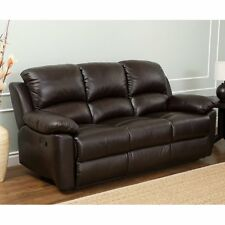 Abbyson Western Top Grain Leather Reclining Sofa -