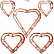 "Wreath Heart Shaped Flat Wire Copper Frame - 12"" 15"" 18"""