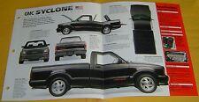 1991 1992 GMC Syclone Cyclone Turbo V6 283 hp IMP Info/Specs/photo 15x9