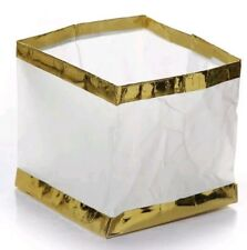 10 x Chinese Floating Square WHITE Paper Lanterns Candles Lighting Party Wedding