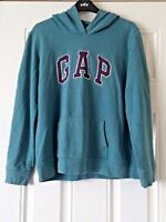 Boys Green Gap Hoodie Pull Over Sweat Casual Size M B8