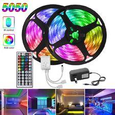 50ft RGB LED Tira Luces 5050 Barras De Decoración Para Dormitorio Con Control Remoto 15M Cambio de Color