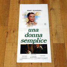 UNA DONNA SEMPLICE locandina poster Une histoire simple Romy Schneider AA40
