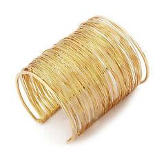 Bangle Cuff Bracelet open metal gold jewelry woman  LW