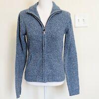 Columbia Women's Zip Up Blue Textured Sweater Size S