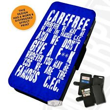 Printed Faux Leather Flip Phone Case For Samsung - Chelsea Carefree Chant