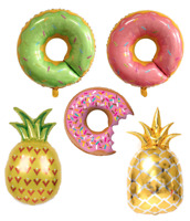 Doughnut / Pineapple Balloons Helium Donut Party Decoration Foil Balloon