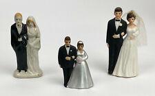 Lot of 3 Vintage 1920-50's Porcelain & Bisque Wedding Cake Toppers Bride & Groom