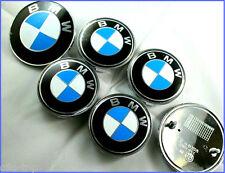 Für BMW 7 stuck Blau weiss satz nabenkappen vorne hinten e46 e60 e61 e90 Neu OEM