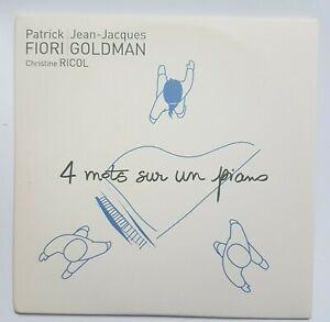 GOLDMAN & FIORI ♦ CD PROMO ♦ 4 MOTS SUR UN PIANO (voir photo 2)