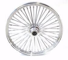 Chrome 48 King Fat Spoke 21 X 2.15 Front Wheel Rim Hub Harley Softail Wide Glide