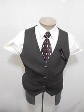Antonio Melani Women's Dress Suit Vest 14 Woven Stripe Black Brown Charcoal $129