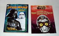 "Star Wars ""Power Of The Force"" & ""Droids Etc."" Activity Coloring Book Lot Unused"