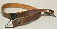 US M1 HELMET LINER EARLY BRASS BUCKLE UNITED CARR LEATHER CHINSTRAP U.S.ARMY USA