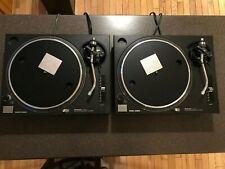 Pair of Technics SL1200MK2 Black DJ Battle Turntables with Roadcases