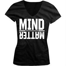 Mind Over Matter Exercise Workout Weight Lifting Juniors V-neck T-shirt