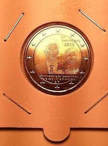 2 EURO LUXEMBOURG 2015 ACCESSION TRONE COMMEMORATIVE NEUVE