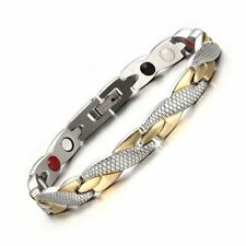 Men Bracelet Jewelry Women 1pc Black Silver Unisex Magnetic Fashion Metal Bangle