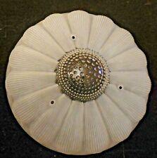 """Vtg Antique Art Deco Sunflower Daisy Glass Shade Chandelier Light Fixture 11"""" W"""
