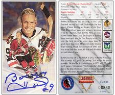 Bobby Hull Signed Legends of Hockey Card Ltd Ed - Chicago Blackhawks