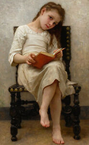 """high quality oil painting handpainted on canvas"""" a girl reading a book"""""""