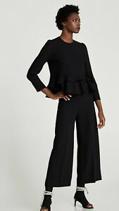 Zara  Top With Frill  Size  Small