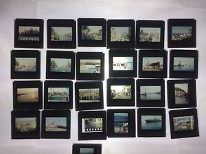 alte Dias z.T. Agfa Glas Dias 50/60er Jahre Italien Capri Rom /  Seereise in BOX