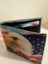 "🔵""American Eagle"" Bi-Fold Leather Wallet"