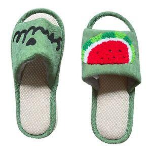 womens Slip On house slippers, open toe With memory foam size 7-8, Watermelon!