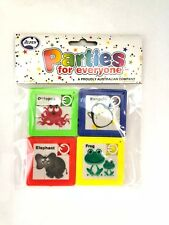 PLASTIC TOY SLIDING ANIMAL PUZZLES PACK OF 4 PARTY LOOT BAG FILLER PINATA FILLER