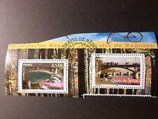FRANCE 2005, timbres 3817 et 3818 REGIONS, oblitéré 1° JOUR, CANCEL FDC stamps