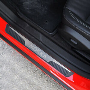 For Opel Vauxhall Mokka X Accessories Car Door Sill Scuff Kick Plate Protectors