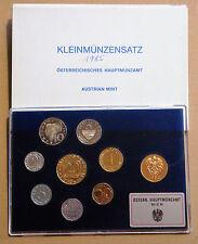 AUSTRIA 1985 ESTUCHE PROOF 8 MONEDAS Y MEDALLA